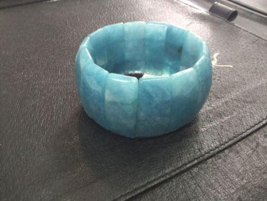 Аквамариновый браслет