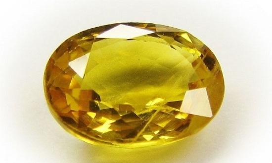 Сапфир желтого цвета