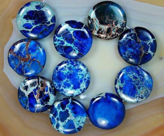 Камни синей яшмы
