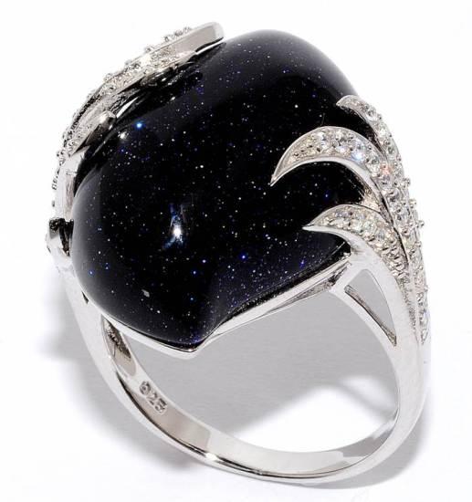 Перстень с чёрным авантюрином