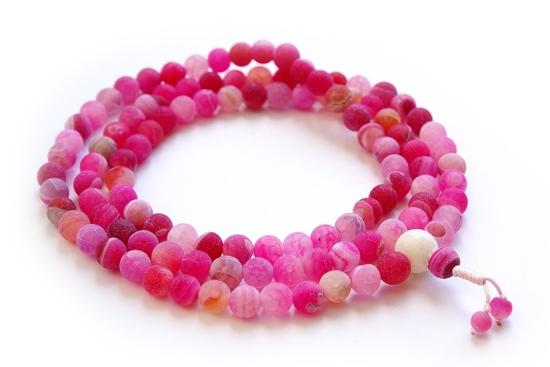 Четки из розового агата