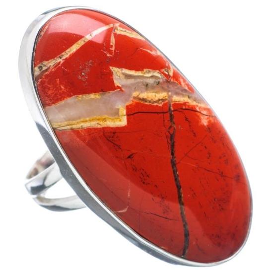 Кольцо кровавая яшма