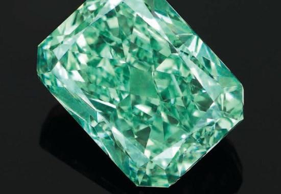 Редкий зеленый алмаз