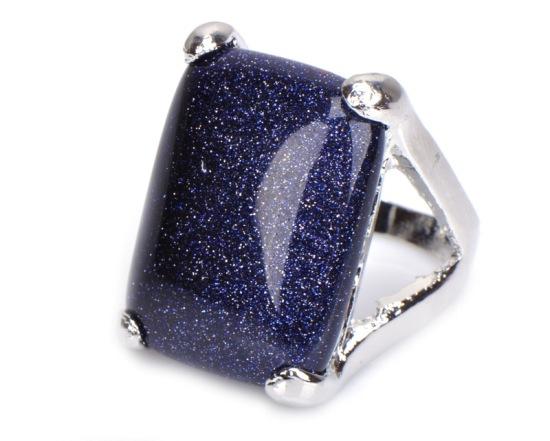 Кольцо с синим авантюрином