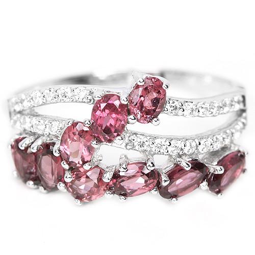 Серебряное кольцо с родолитом