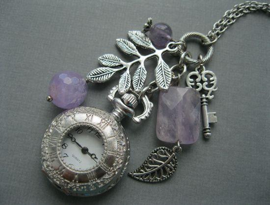Часы с аметистом