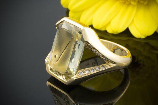 Кольцо с камнем Гелиодор