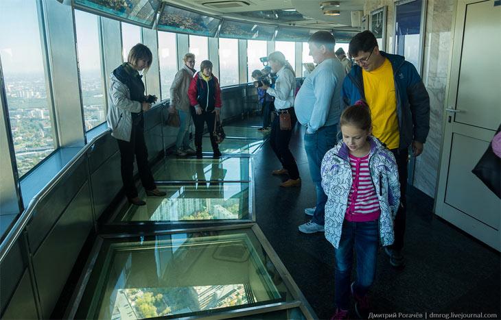 Стеклянный пол в Останкинской башне