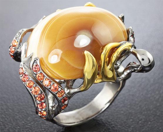 кольцо с кальцитом