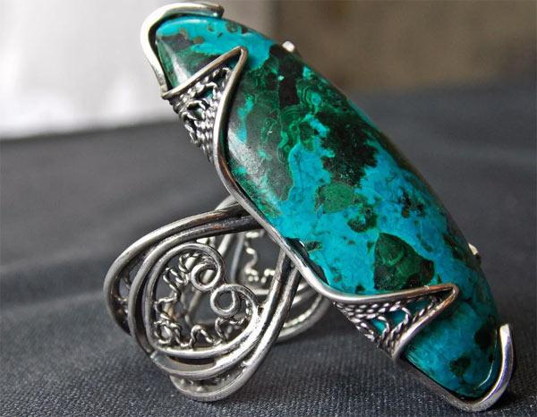 Кольцо с камнем из Эйлата