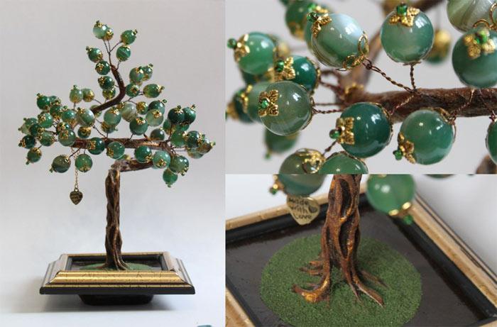 Денежное дерево из камней