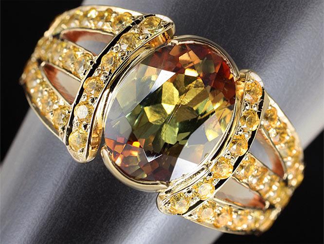 Золотое кольцо c андалузитом