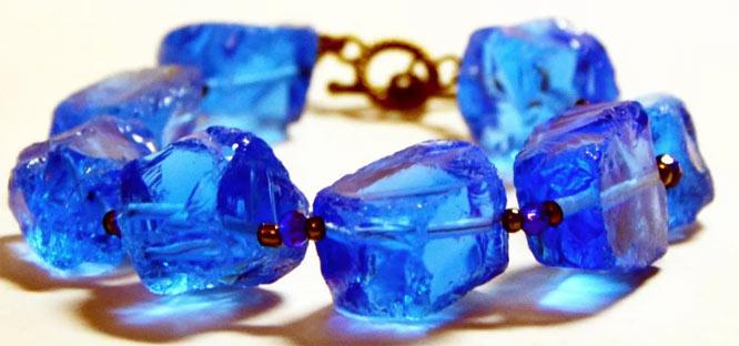 Браслет из синего кварца