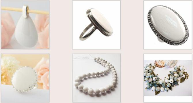 украшение с белыми камнями