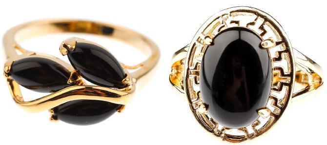 украшения с черными камнями