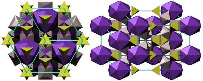 Кристаллическая структура алунита