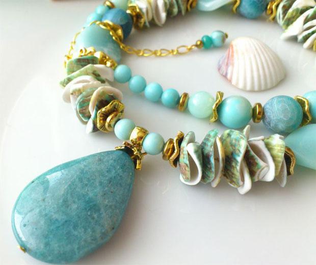 ожерелье с амазонитом