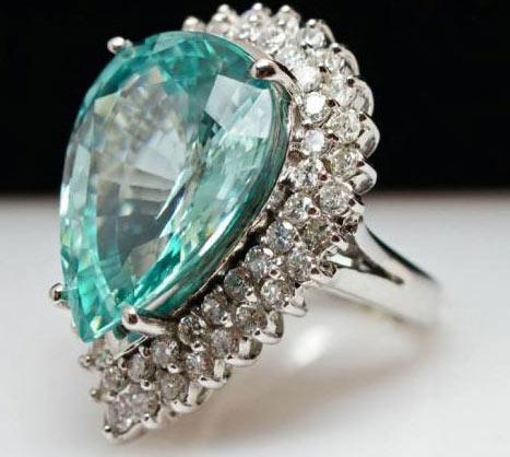 кольцо с эвклазом