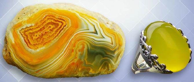 минерал Желтый агат