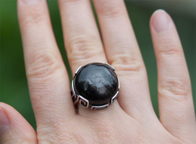 Кольцо из гиперстена