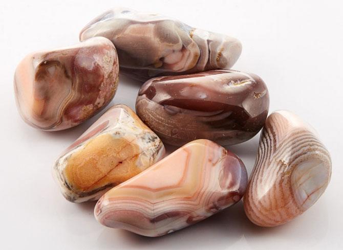камни агатов ботсвана