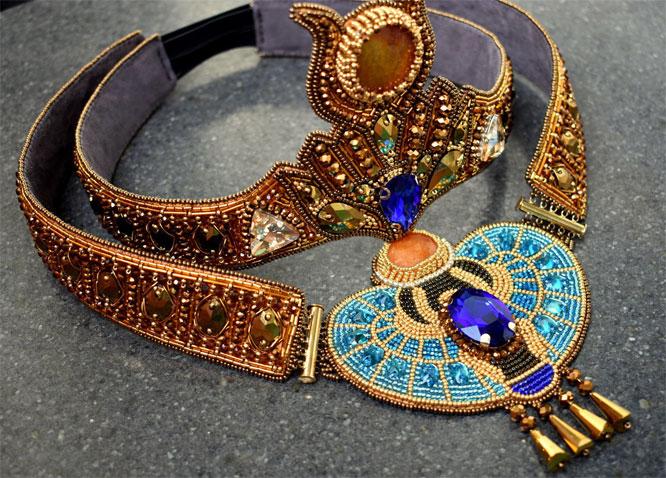 ювелирное украшения египта из ливийского стекла