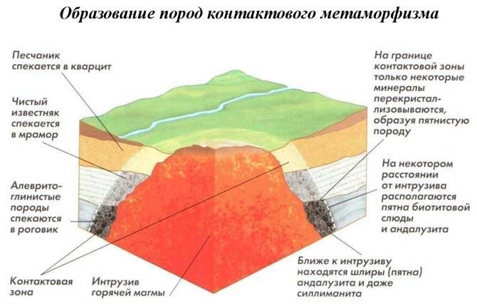 метаморфические горные породы образуются