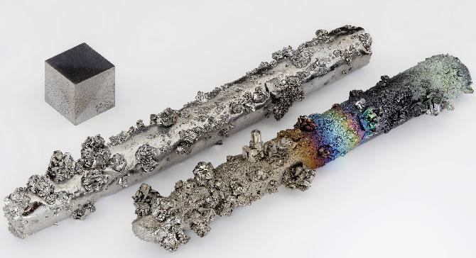 Тугоплавкий прочный металл, светло-серого цвета - вольфрам