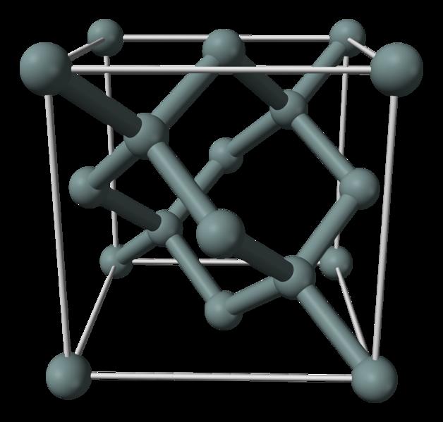 Элементарная кристаллическая ячейка германия типа алмаза