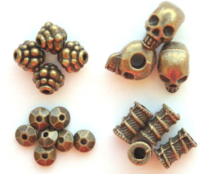 Бусины металлические из бронзы