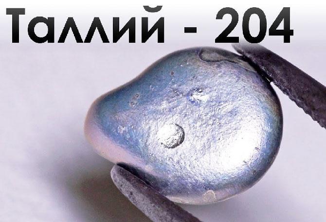 Таллий элемент 204